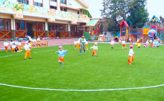幼稚園・保育所に人工芝を施工した時のサンプル画像