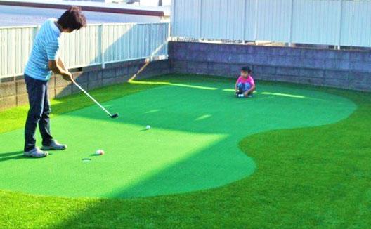 パターゴルフ用に人工芝を施工した時のサンプル画像