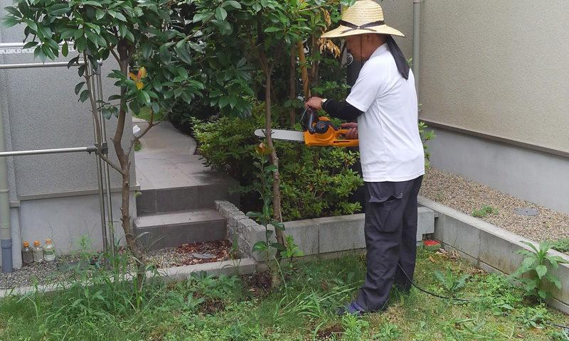 東京都 T様邸の庭施工中の写真2