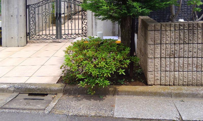東京都 Y様邸の庭施工前の写真2