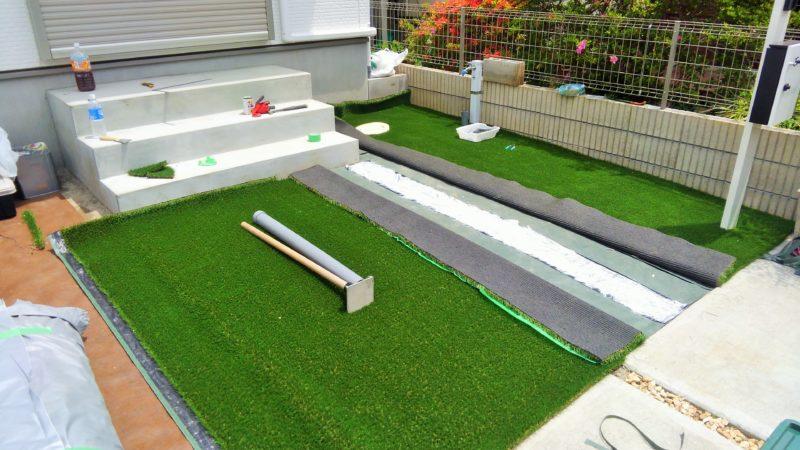 東京都 A様邸の庭施工中の写真6