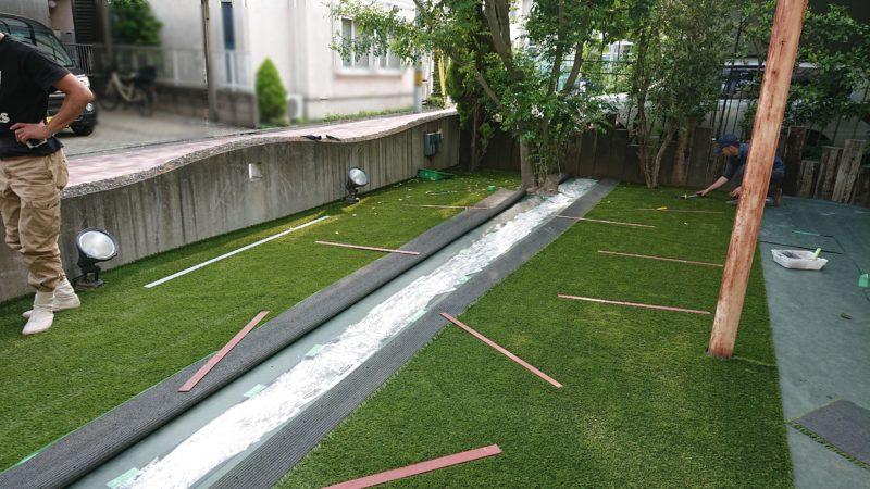 東京都 H様邸の庭施工中の写真5