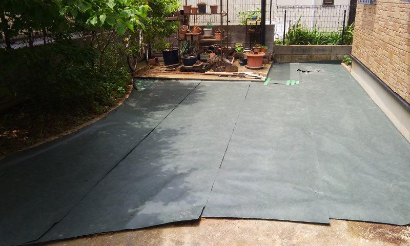 千葉県 K様邸の庭施工中の写真4
