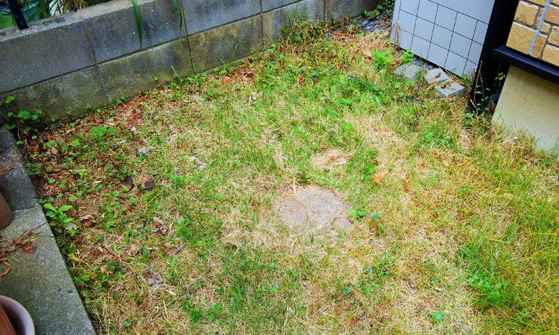 千葉県 K様邸の庭施工前の写真2