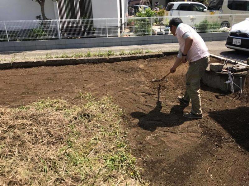 神奈川県 Y様邸の庭施工中の写真2