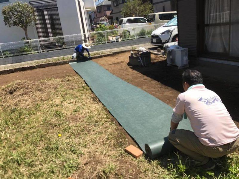 神奈川県 Y様邸の庭施工中の写真3