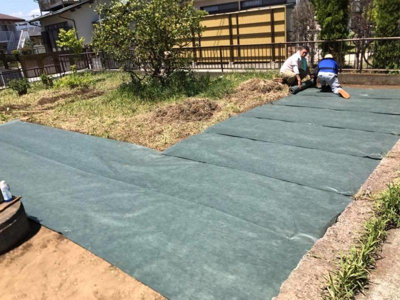 神奈川県 Y様邸の庭施工中の写真4