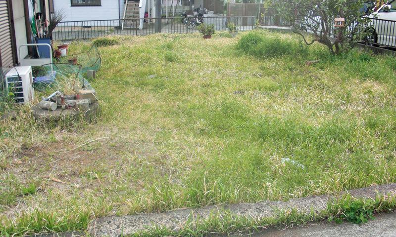 神奈川県 Y様邸の庭・施工前の写真