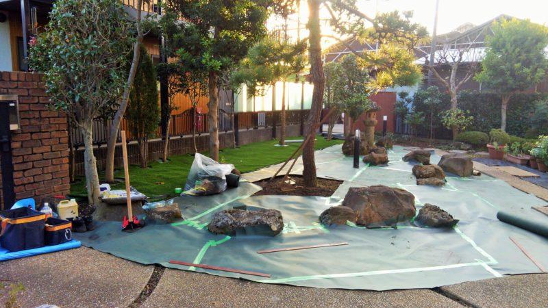 埼玉県 E様邸の庭施工中の写真3