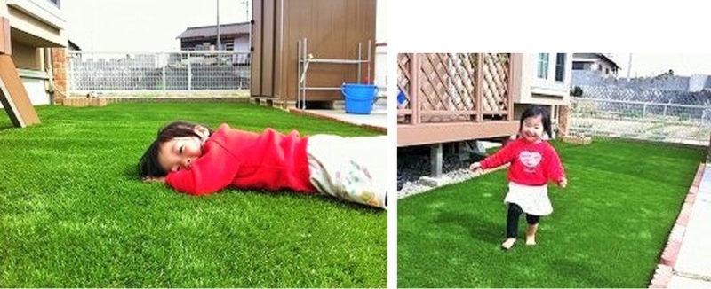 子供に優しい庭に施工後の写真2