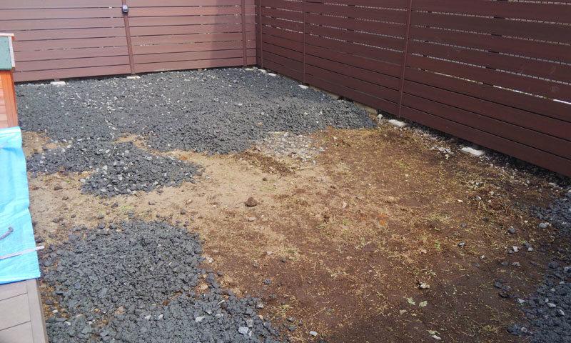 栃木県 M様邸の庭施工中の写真3