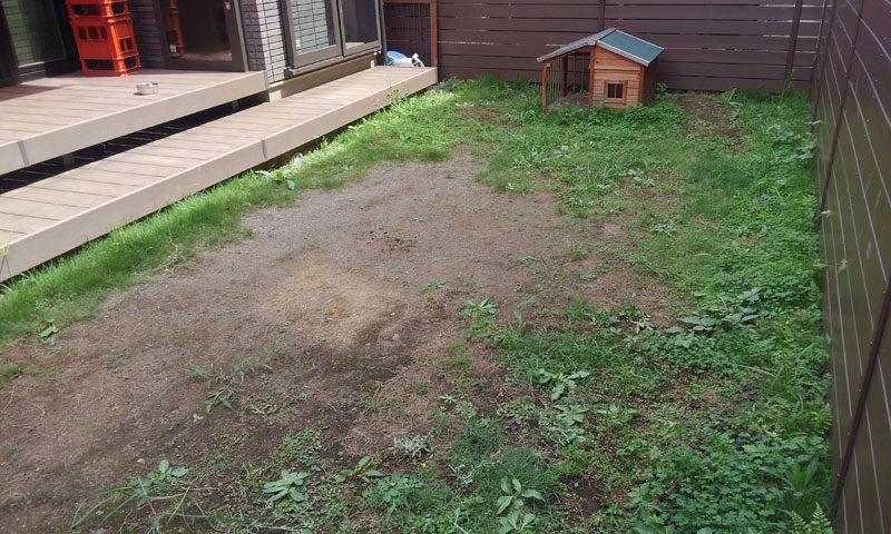 栃木県 M様邸の庭・施工前の写真