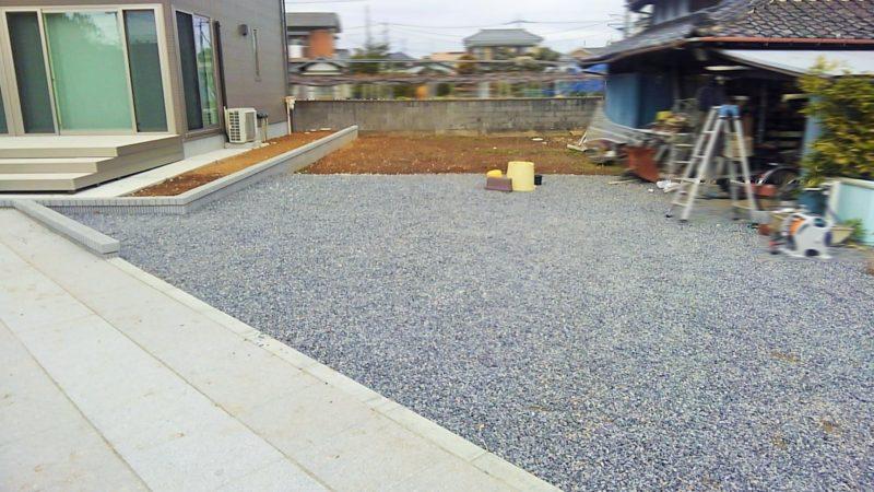 埼玉県 O様邸の庭・施工前の写真
