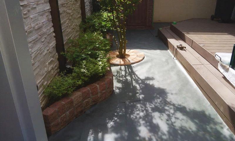 東京都 F様邸の庭施工中の写真4