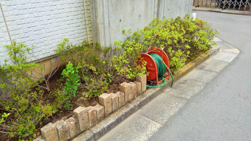 東京都 Y様邸の花壇・施工前の写真