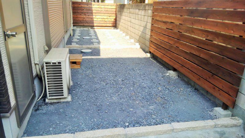 埼玉県 S様邸の庭・施工前の写真
