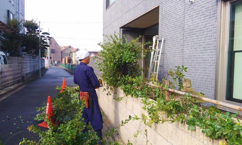 東京都 Y様邸の庭施工中の写真4