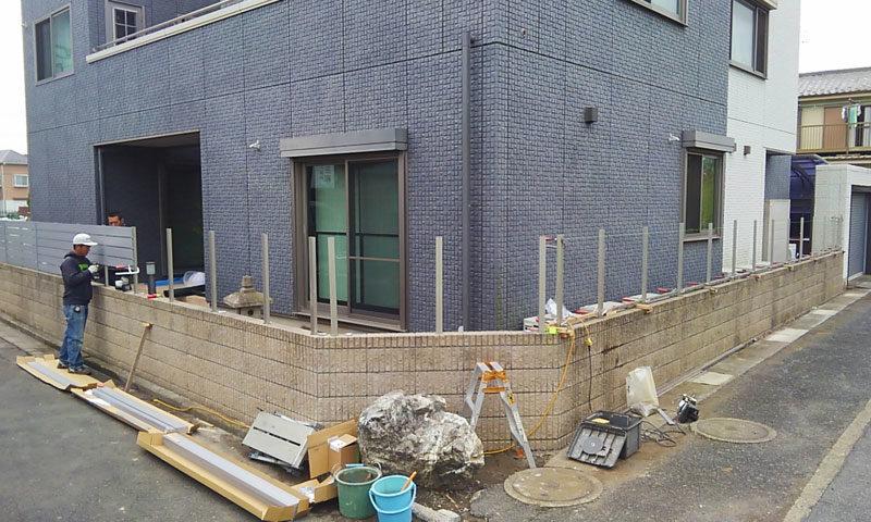 東京都 Y様邸の庭施工中の写真6