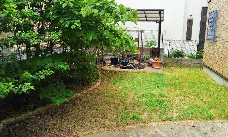 千葉県 K様邸の庭・施工前の写真