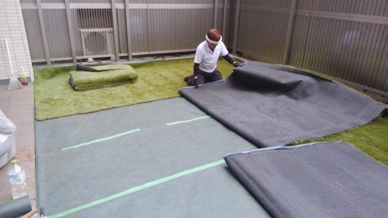 東京都 M様邸の庭施工中の写真3