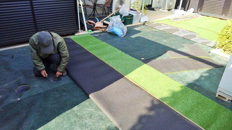 東京都 M様邸の庭施工中の写真4