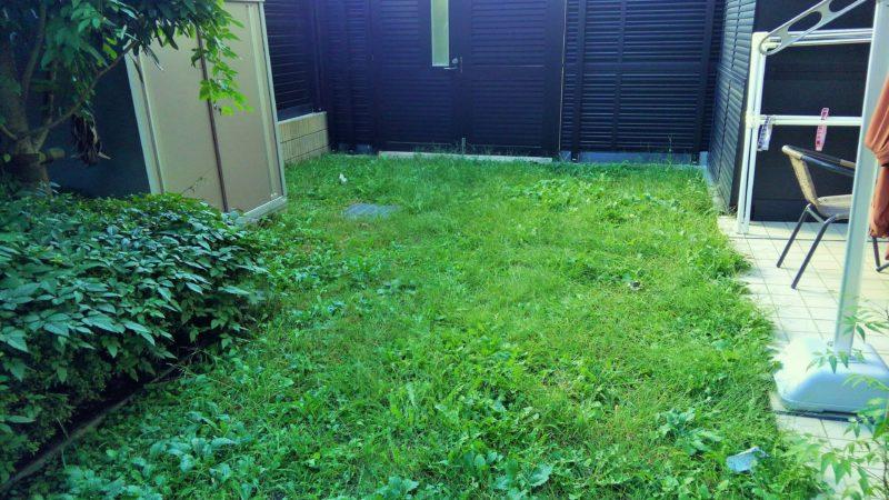 東京都 M様邸の庭施工前の写真1
