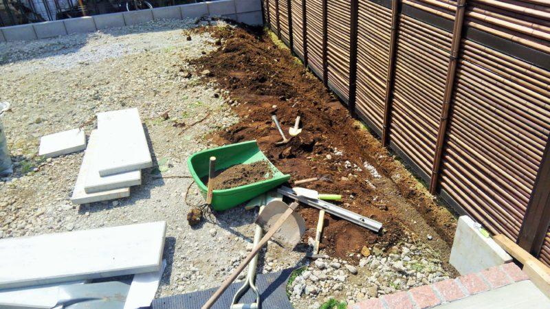 神奈川県 N様邸の庭施工中の写真2