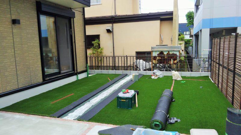 神奈川県 N様邸の庭施工中の写真5