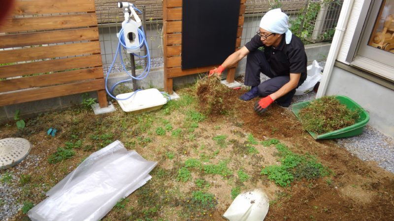 千葉県 Y様邸の庭施工中の写真2