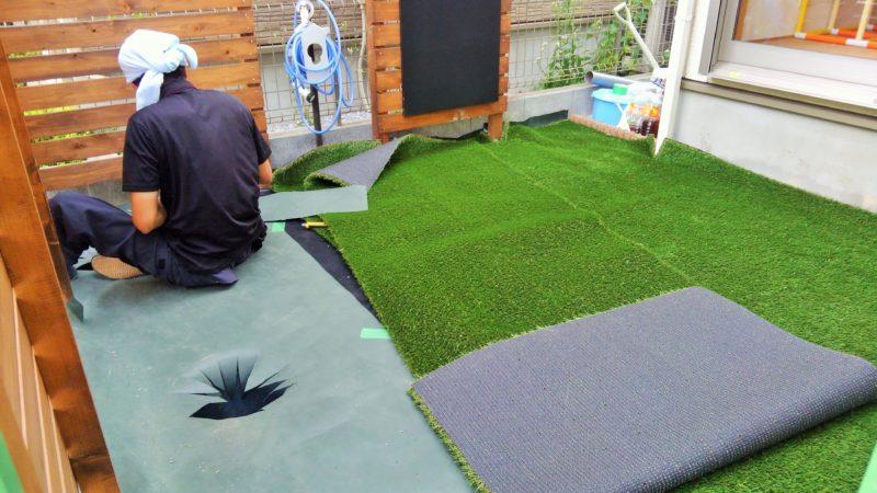 千葉県 Y様邸の庭施工中の写真5