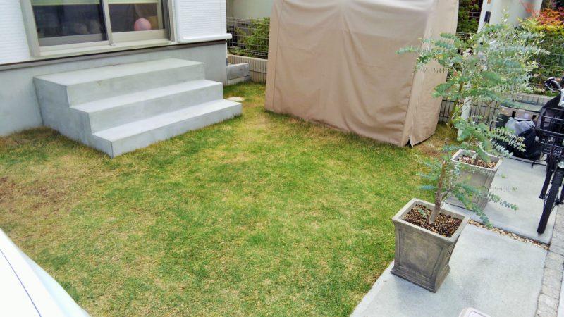 東京都 A様邸の庭・施工前の写真