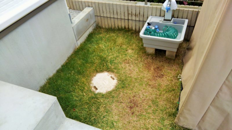 東京都 A様邸の庭施工前の写真1