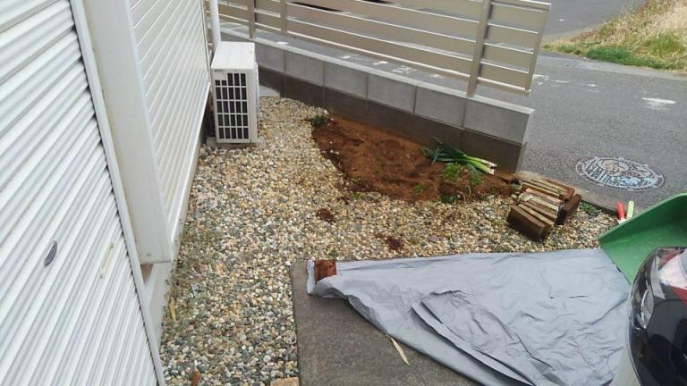 施工面積が小さめのケース・施工前の写真