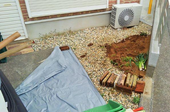 施工面積が小さめのケース施工中の写真2