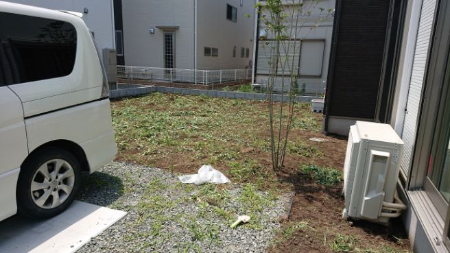 群馬県 A様邸の庭施工前の写真5
