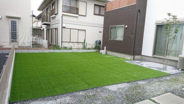 群馬県 A様邸の庭施工後の写真2
