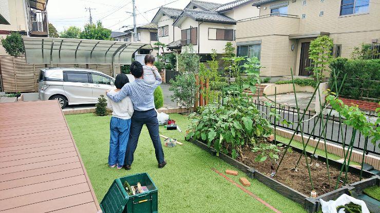 東京都S様邸の庭施工中の写真4
